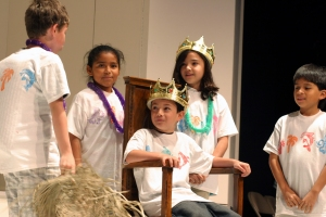 Holly's Students perform a scene from Richard III in the 2010 Emily Jordan Children's Festival at the Folger.