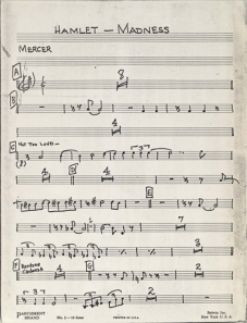 Sheet music for Hamlet-Madness