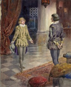 Twelfth night, act 1, scene 4 by H. Thomas Maybank. Folger Shakespeare Library.