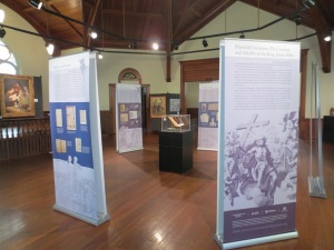 The quarto workshop was held at the Tifton Museum, where Manifold Greatness is on display.