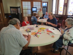Advertised as a family activity, the workshop attracted a wide range of ages.