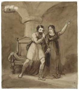 Macbeth and Lady Macbeth, after the murder of Duncan. R. T. Bone. Courtesy of Folger Shakespeare Library.