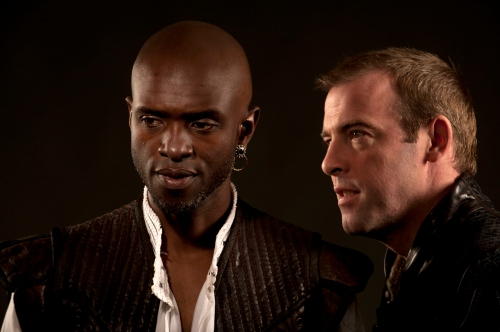 Owiso Odera (Othello) and Ian Merrill Peakes (Iago), Othello, directed by Robert Richmond, Folger Theatre, 2011.