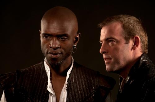 Owiso Odera (Othello) and Ian Merrill Peakes (Iago), Othello, directed by Robert Richmond, Folger Theatre, 2011.