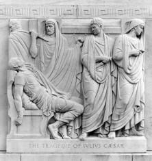Folger Library Exterior: Bas relief: Julius Caesar