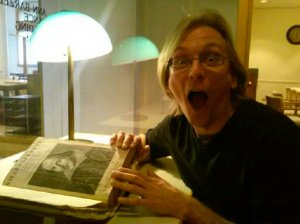 Geoff Stanbury, very excited about the First Folio.