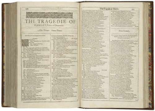 Hamlet. First Folio. Courtesy Folger Shakespeare Library.