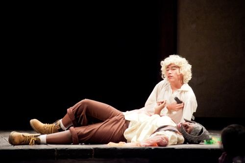 Death scene from Shakespeare performed at the Folger's Secondary School Festival in 2013.