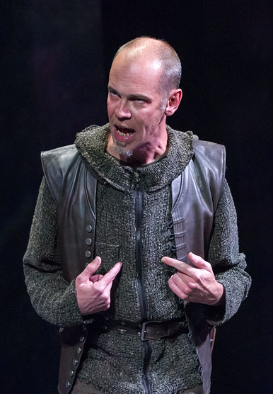 Louis Butelli (Cassius), Julius Caesar, directed by Robert Richmond, Folger Theatre, 2014. Photo by Teresa Wood.
