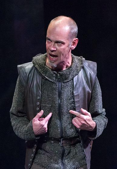 Louis Butelli (Cassius), Julius Caesar, directed by Robert Richmond, Folger Theatre, 2014. Photo by Teresa Wood.