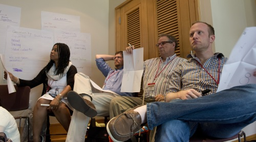 "TSI2014 participants create ""folios"". (Photo: James Brantley)"