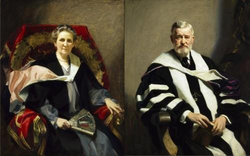 Emily Jordan Folger and Henry Clay Folger by Frank O. Salisbury. (Folger Collection)