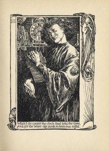 Illustration opposite Sonnet XII by Henry Ospovat. (Folger Shakespeare Library)