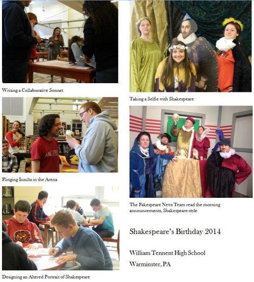 Celebrating Shakespeare's Birthday (Janemarie Cloutier)