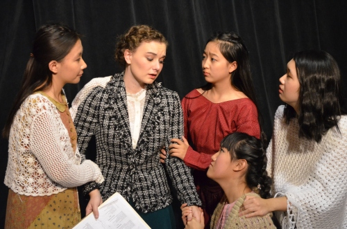 Students performing Shakespeare in Angela Ward's class. (Image: Angela Ward)
