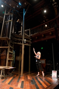 Jennie Brown on the Folger stage. (Image: James Brantley)