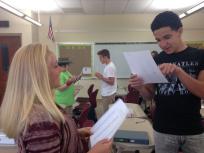 Students close reading. (Image: Jennie K. Brown)